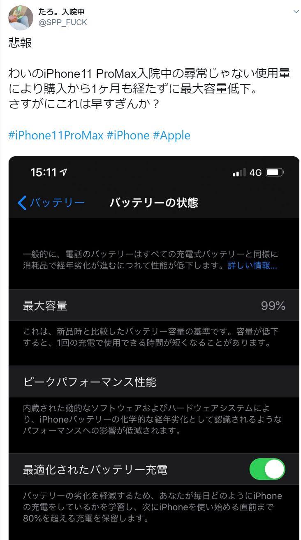 バッテリー 容量 iphone